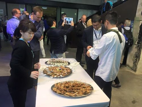 #Latitude59 Lunch Time! Delicious Japanese finger foods are here at Startup City Fukuoka :)