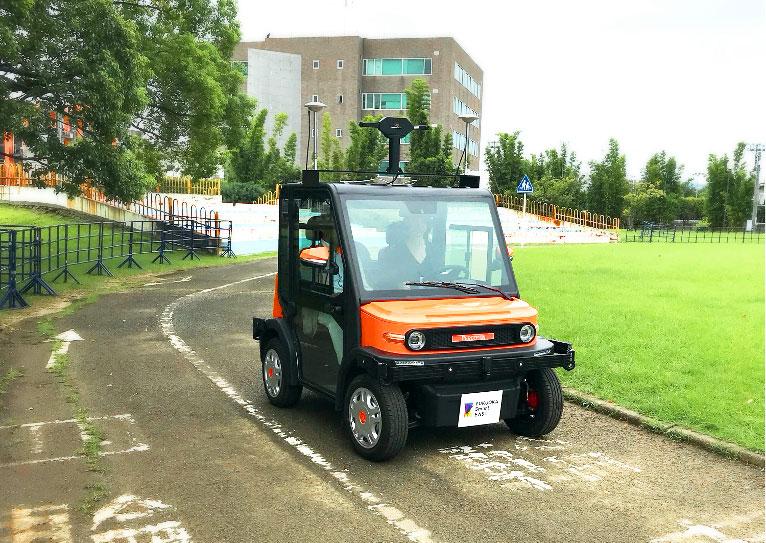 移動(モビリティ)二人乗り小型自動運転車の実証実験